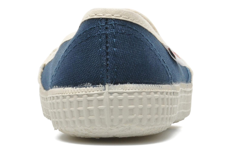 Baskets Victoria Slip On Rayas Lona Bleu vue droite