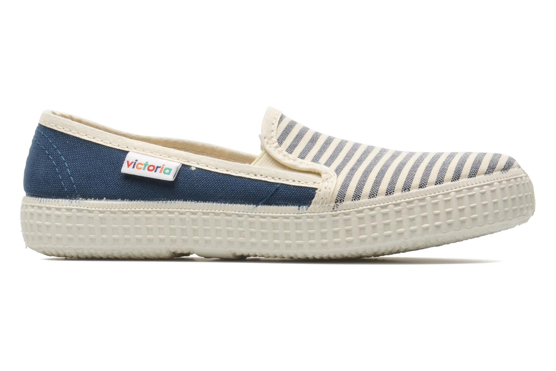 Sneakers Victoria Slip On Rayas Lona Azzurro immagine posteriore