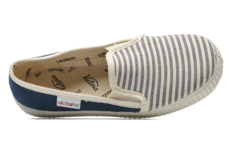 Sneakers Victoria Slip On Rayas Lona Azzurro immagine sinistra