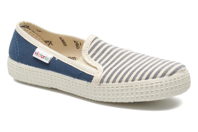 Sneakers Victoria Slip On Rayas Lona Azzurro vedi dettaglio/paio