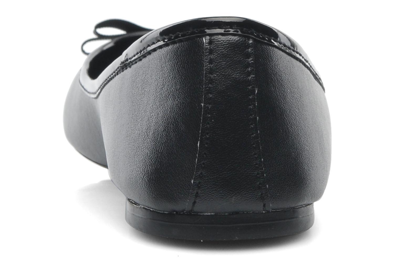 Ballerines Isotoner Ballerine Bicolore 2 Noir vue droite