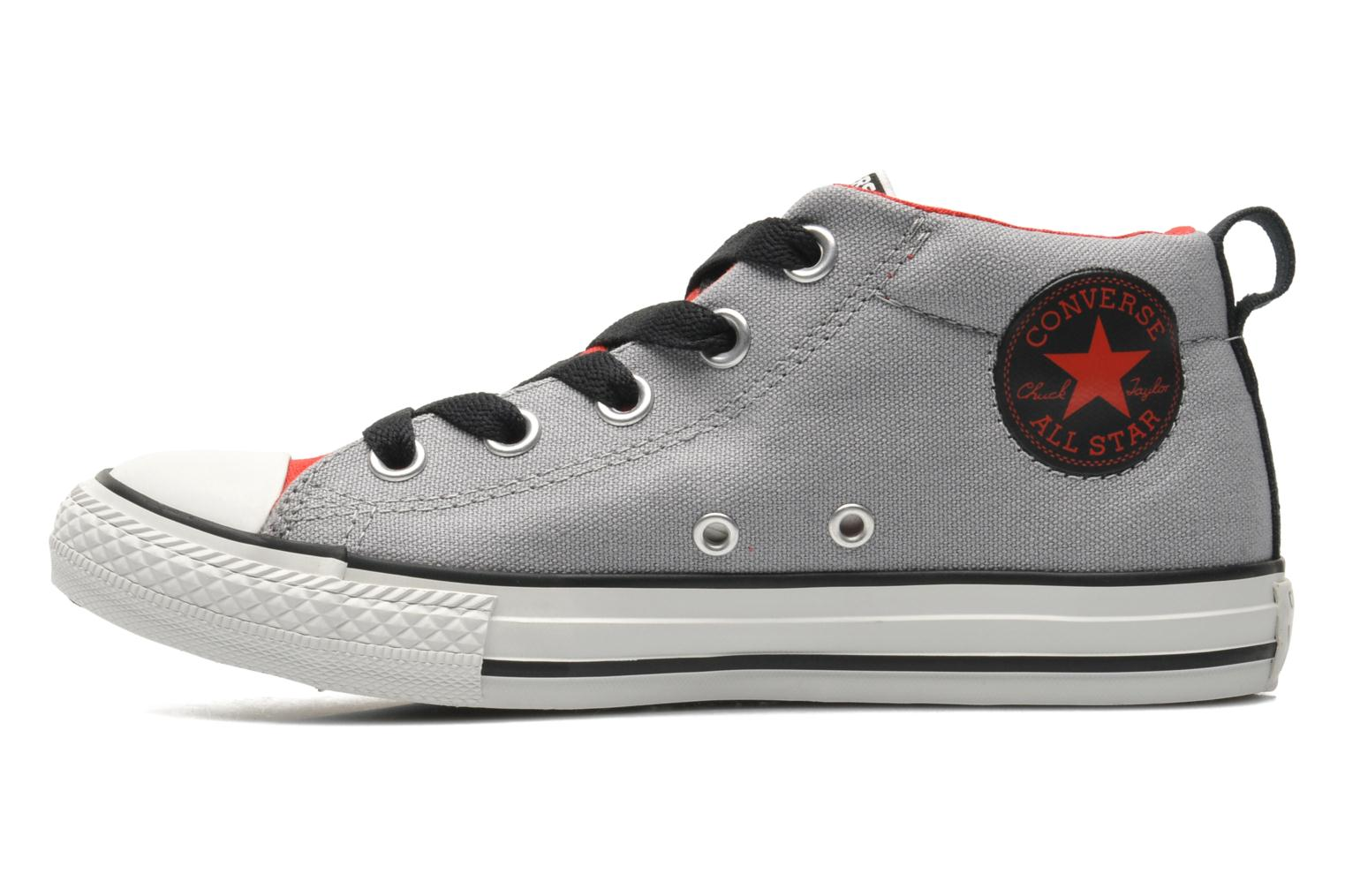 Baskets Converse Chuck Taylor All Star Street Mid Gris vue face