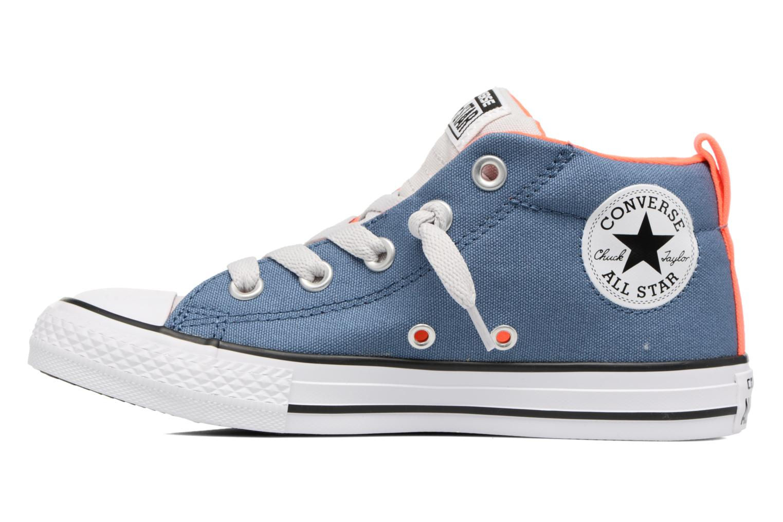 Baskets Converse Chuck Taylor All Star Street Mid Bleu vue face