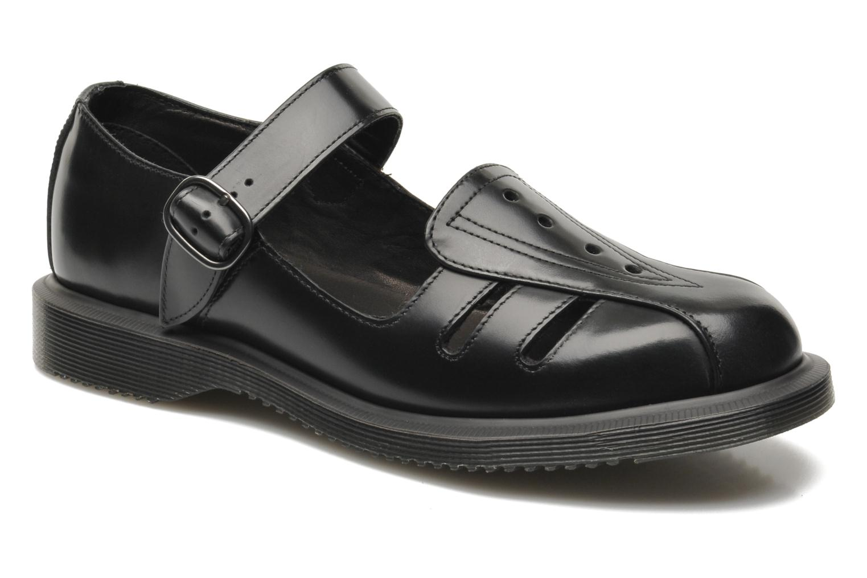 Deardra black polished smooth