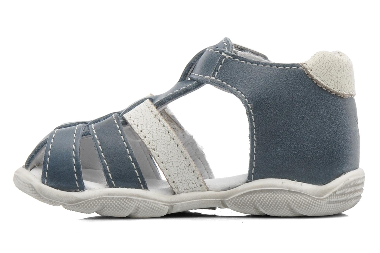Sandales et nu-pieds GBB IBERE Bleu vue face
