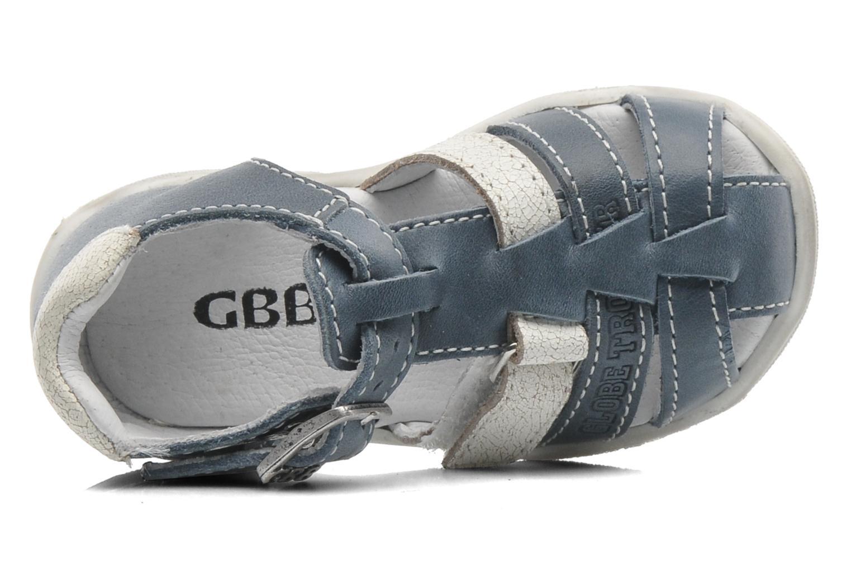 Sandales et nu-pieds GBB IBERE Bleu vue gauche