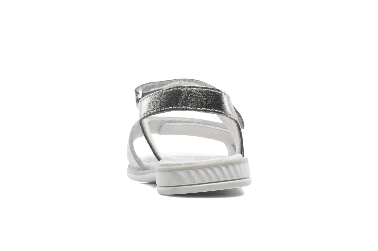 Sandals GBB IRAIS Silver view from the right