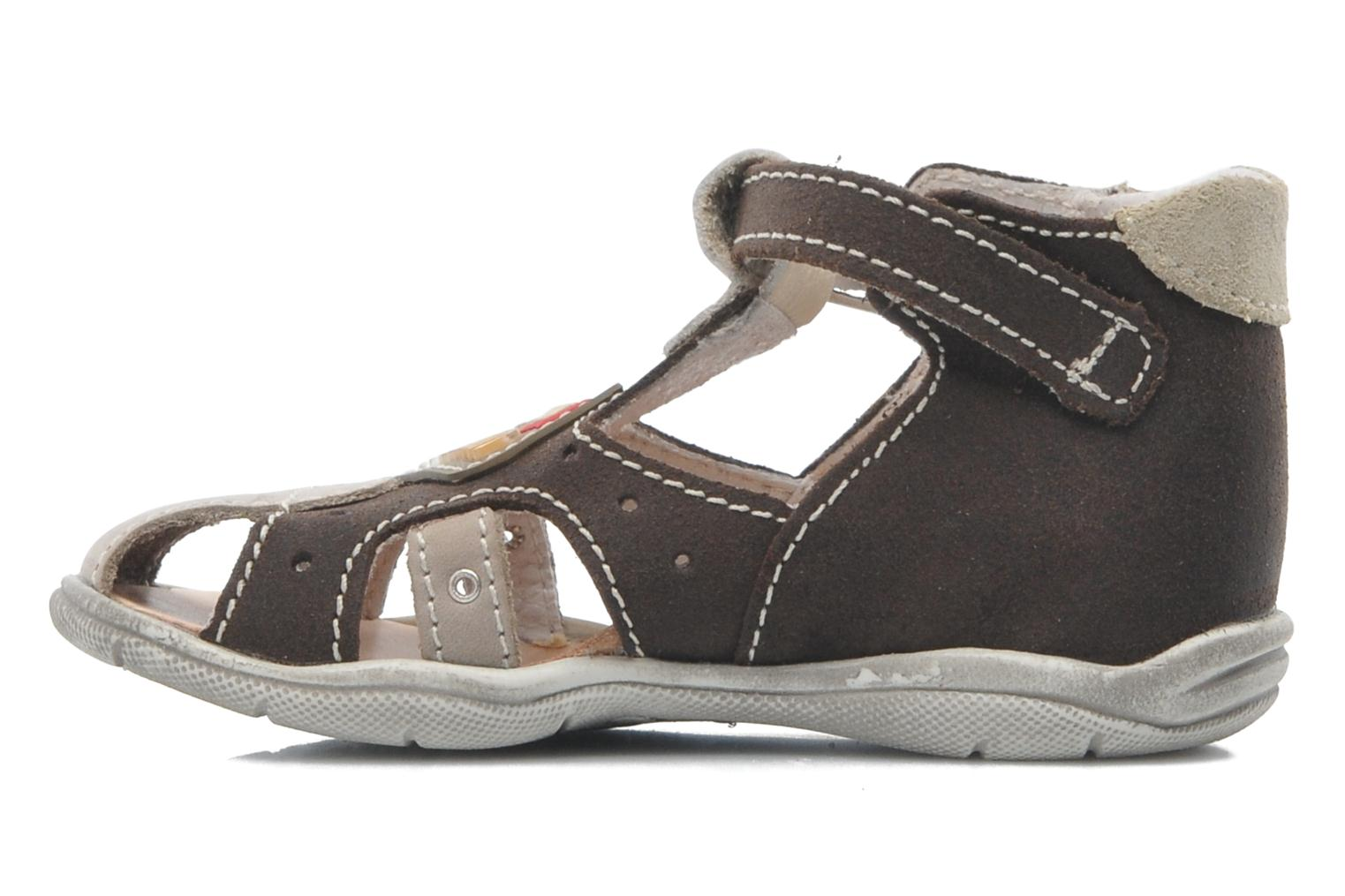 Sandals Little Mary SLALOM Brown front view