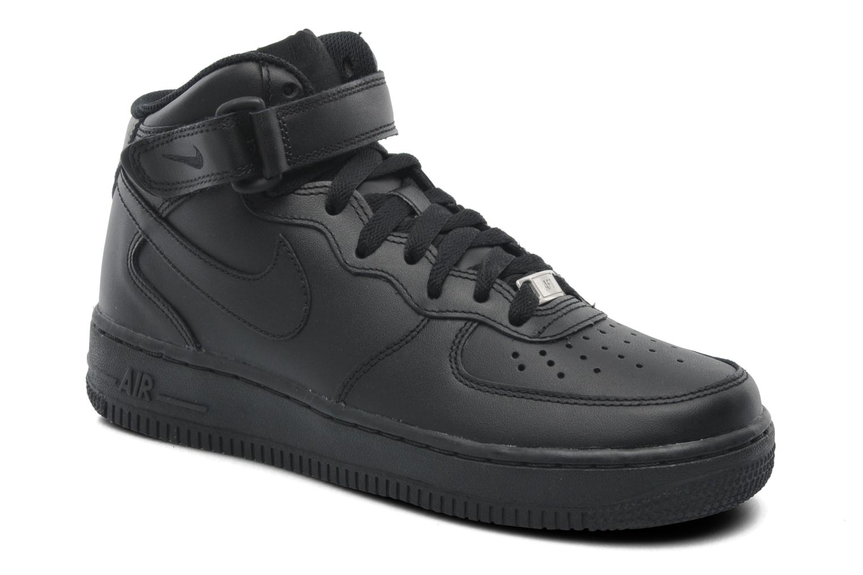 Baskets Nike Wmns Air Force 1 Mid '07 Le Noir vue détail/paire