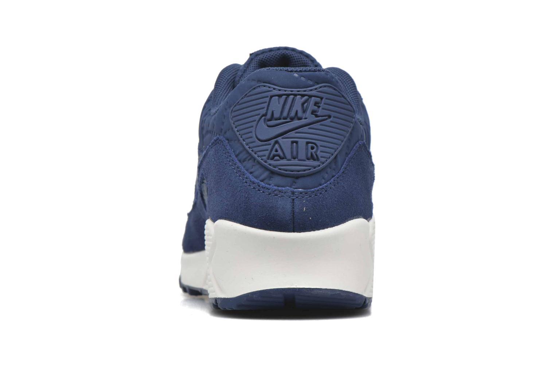 Baskets Nike Wmns Air Max 90 Prem Bleu vue droite