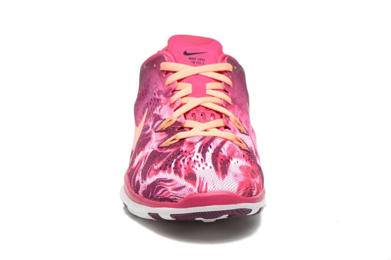 Wmns Nike Free 5.0 Tr Fit 5 Prt Fireberry/Snst Glow-Mlbrry-Blk