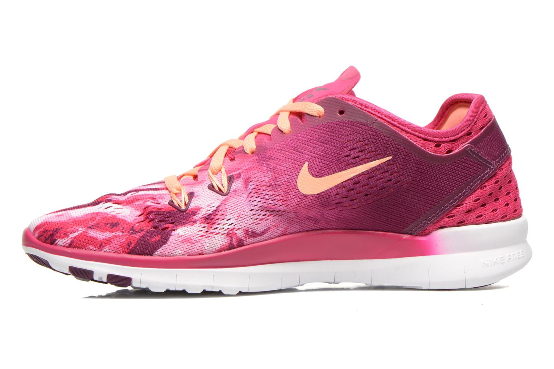 Sportschuhe Nike Wmns Nike Free 5.0 Tr Fit 5 Prt rosa ansicht von vorne
