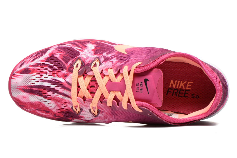 Sportschoenen Nike Wmns Nike Free 5.0 Tr Fit 5 Prt Roze links