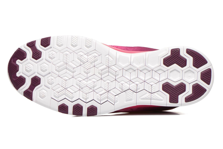 Sportschuhe Nike Wmns Nike Free 5.0 Tr Fit 5 Prt rosa ansicht von oben