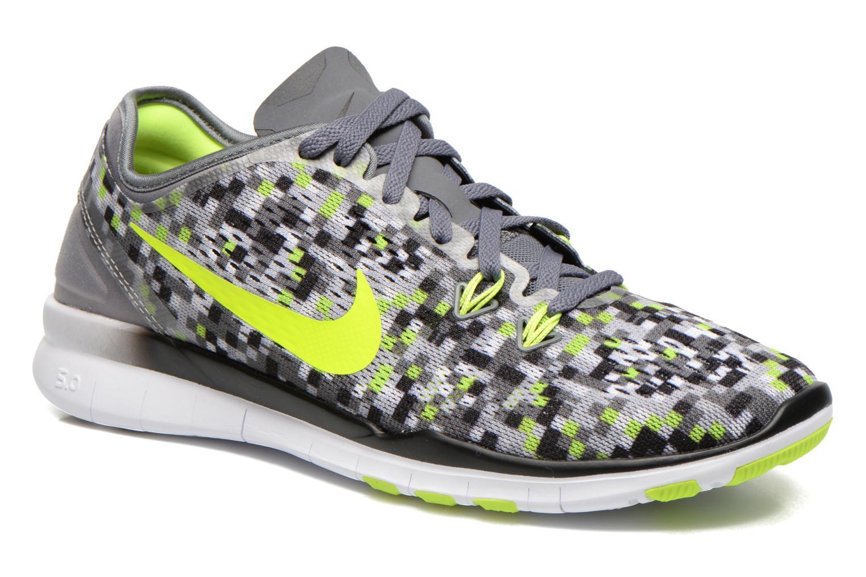 Chaussures de sport Nike Wmns Nike Free 5.0 Tr Fit 5 Prt Gris vue détail/paire