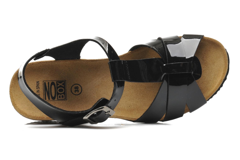 Sandales et nu-pieds No Box Judy Noir vue gauche