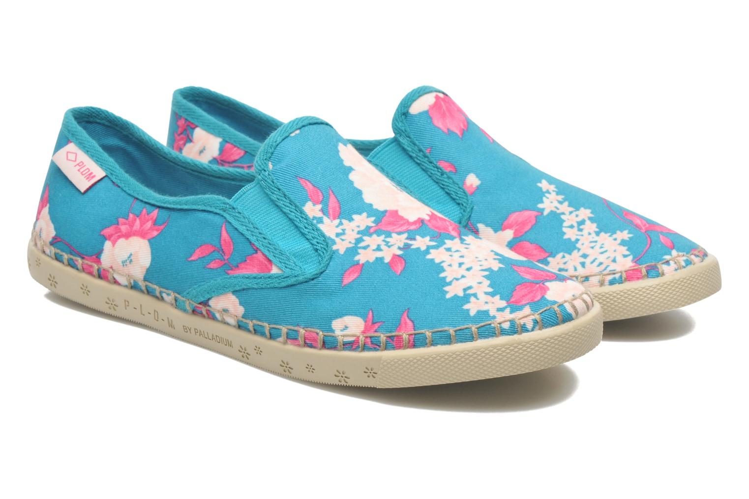 Trainers P-L-D-M By Palladium Bora Big Flower Blue 3/4 view