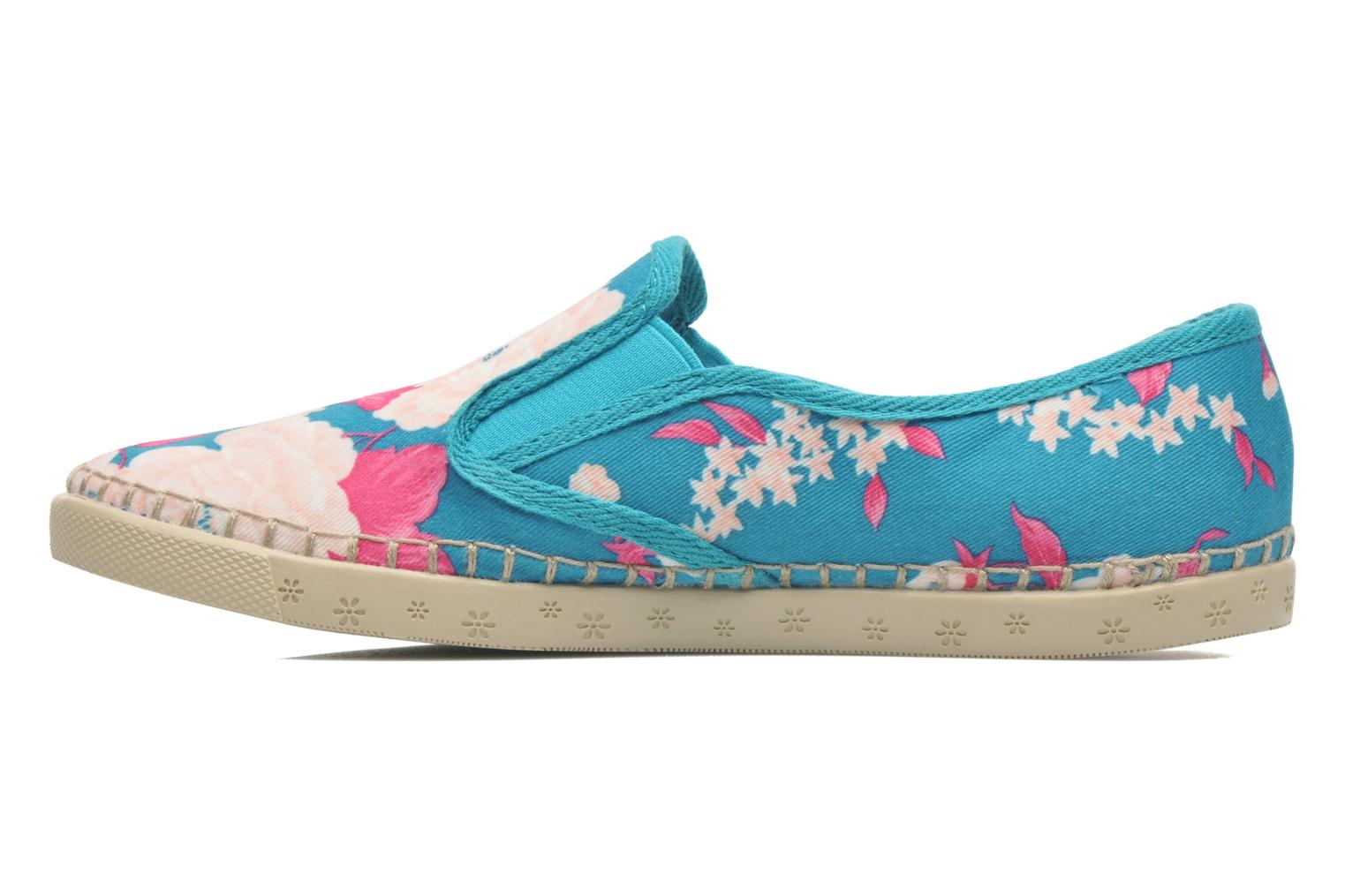 Trainers P-L-D-M By Palladium Bora Big Flower Blue front view
