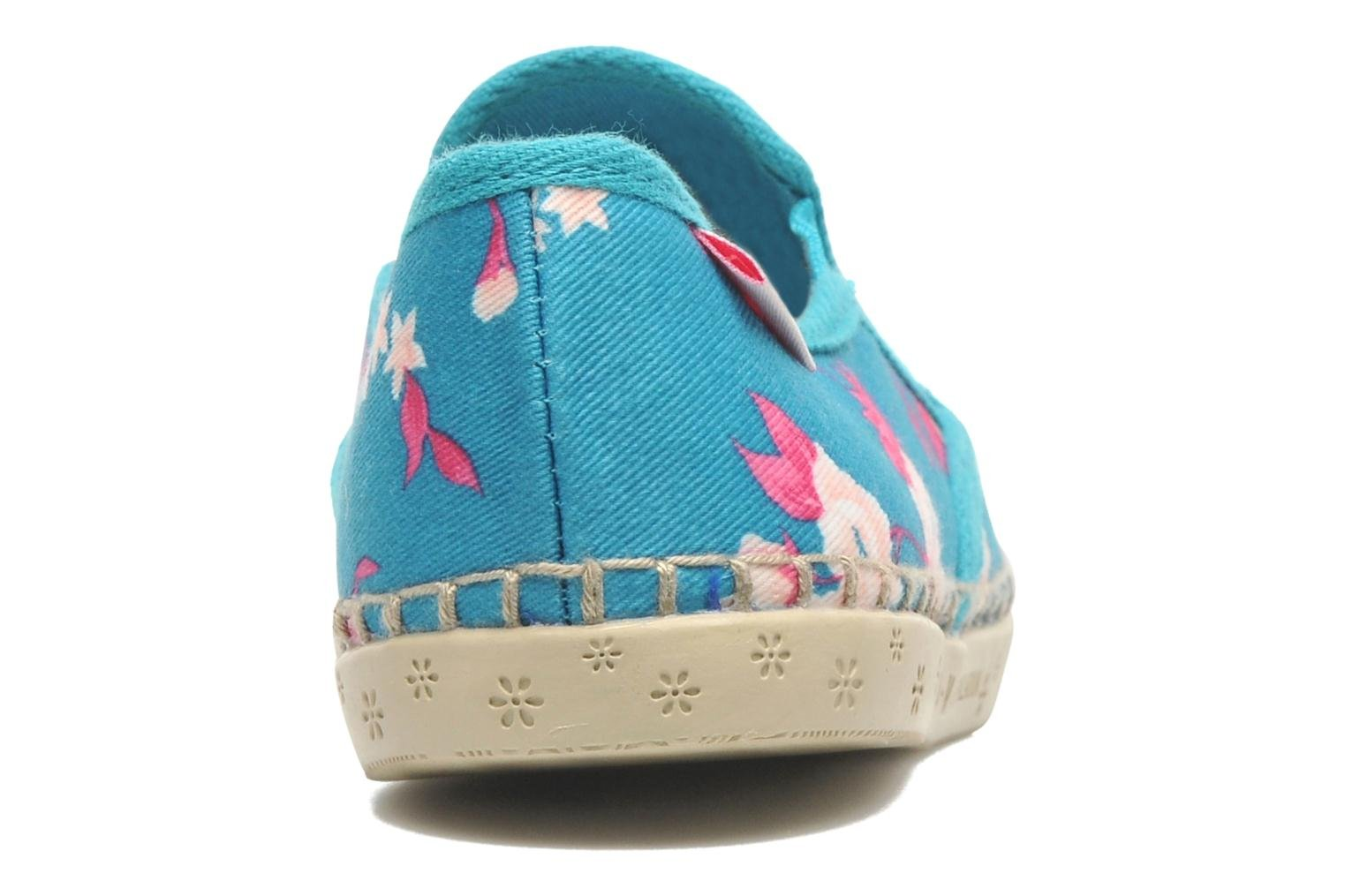 Baskets P-L-D-M By Palladium Bora Big Flower Bleu vue droite