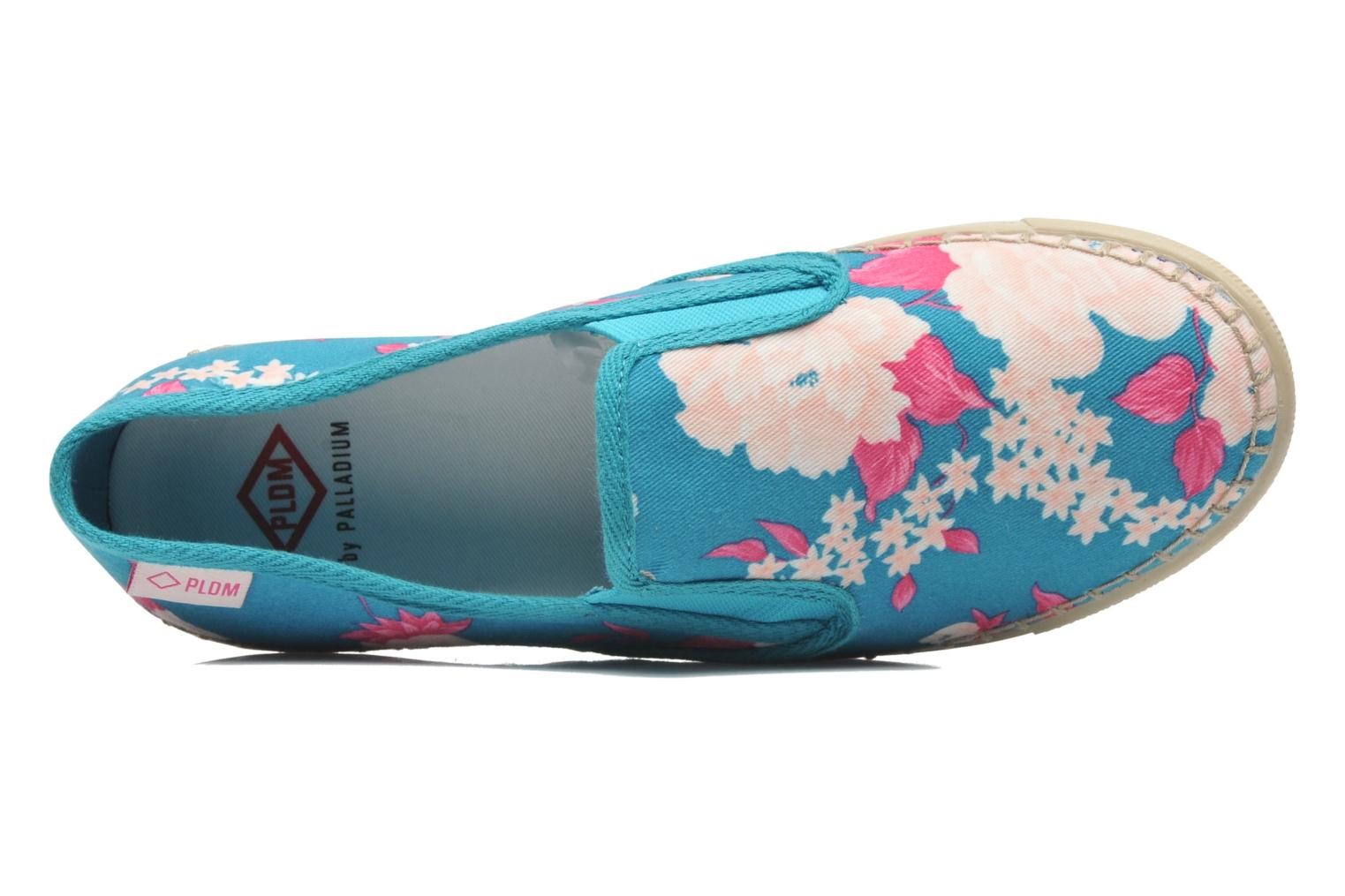 Trainers P-L-D-M By Palladium Bora Big Flower Blue view from the left