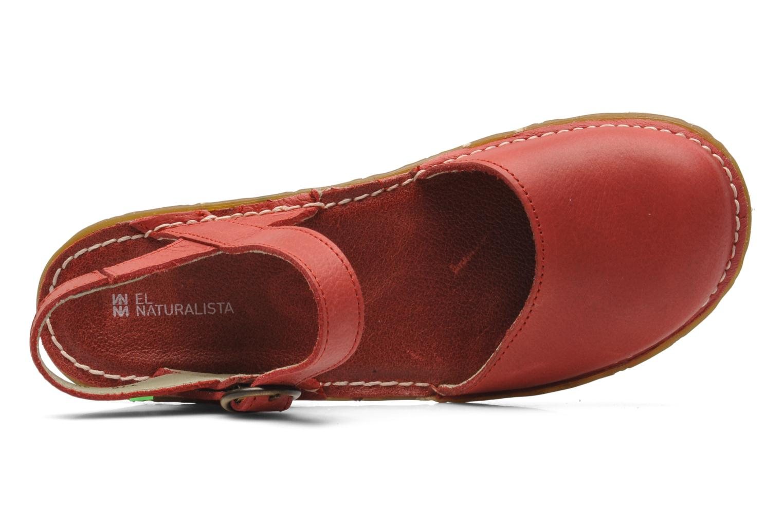 Sandalias El Naturalista Yggdrasil N178 Rojo vista lateral izquierda
