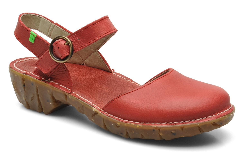 Sandales et nu-pieds El Naturalista Yggdrasil N178 Rouge vue détail/paire
