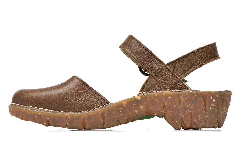 Sandales et nu-pieds El Naturalista Yggdrasil N178 Marron vue face