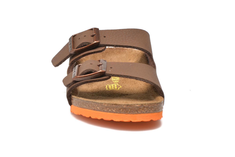Sandales et nu-pieds Birkenstock Arizona Birko-Flor Bleu vue portées chaussures