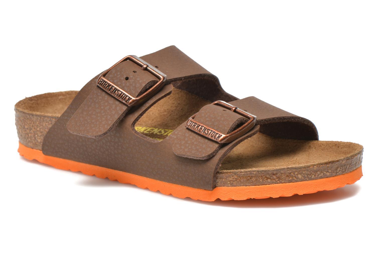 Sandales et nu-pieds Birkenstock Arizona Birko-Flor Bleu vue détail/paire