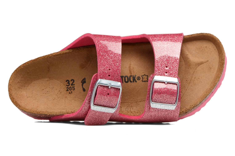 Sandals Birkenstock Arizona Birko-Flor Pink view from the left