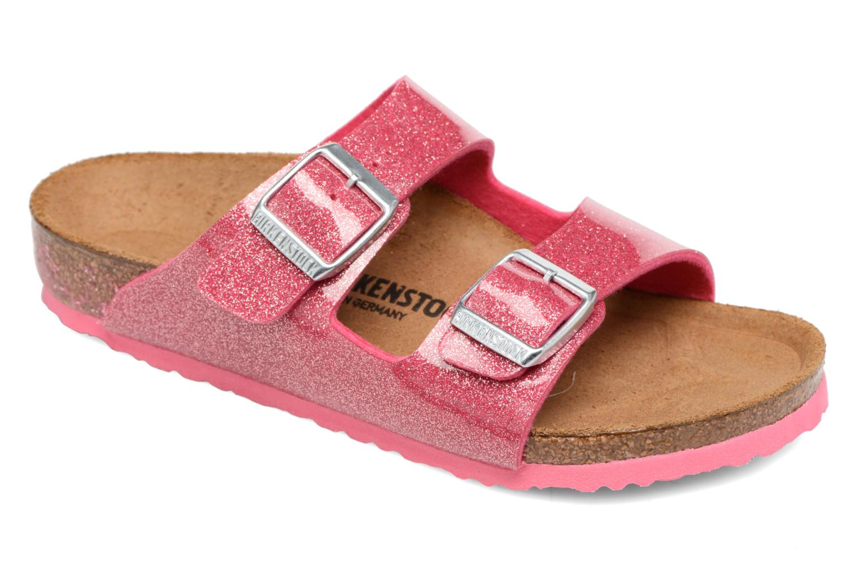 Sandals Birkenstock Arizona Birko-Flor Pink detailed view/ Pair view