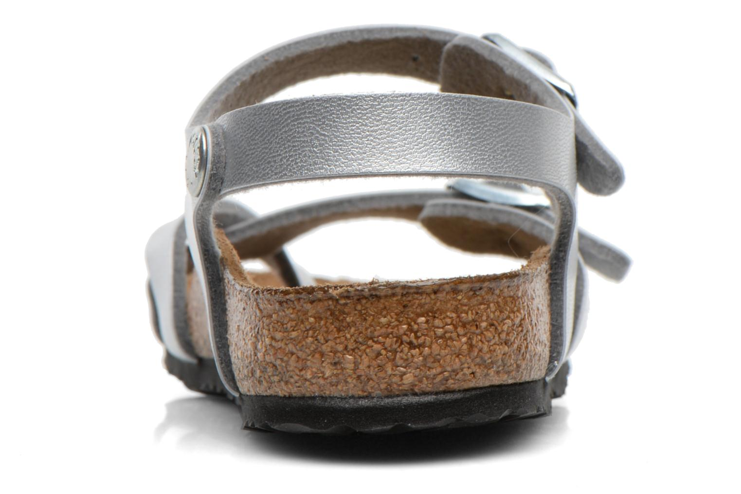 Sandals Birkenstock TAORMINA Silver view from the right