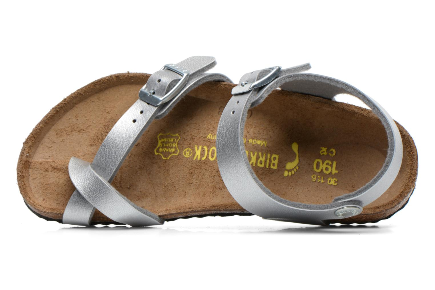 Sandals Birkenstock TAORMINA Silver view from the left
