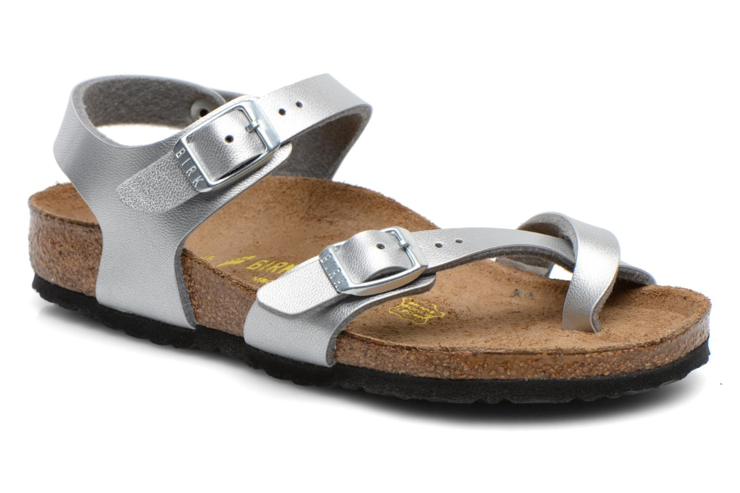 Sandals Birkenstock TAORMINA Silver detailed view/ Pair view