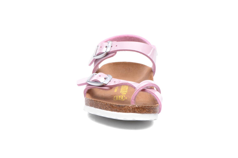 Sandales et nu-pieds Birkenstock TAORMINA Rose vue portées chaussures