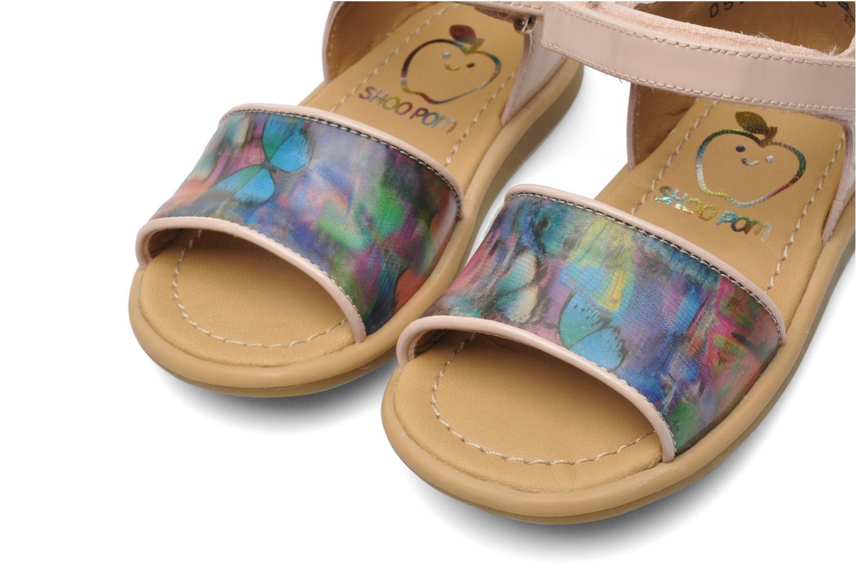Sandals Shoo Pom Tity Back Sandal Pink 3/4 view