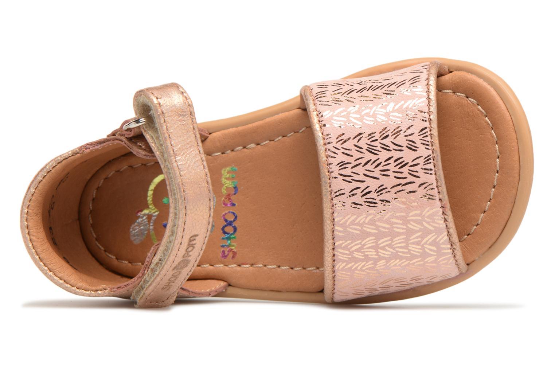 Sandalias Shoo Pom Tity Back Sandal Plateado vista lateral izquierda