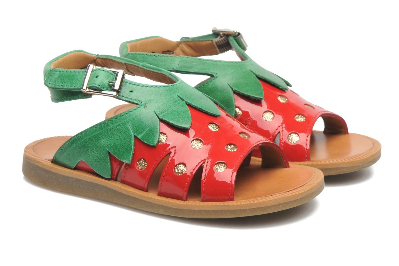 Sandales et nu-pieds Pom d Api POPPY STRAWBERRY Rouge vue 3/4