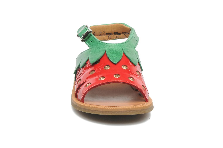 Sandales et nu-pieds Pom d Api POPPY STRAWBERRY Rouge vue portées chaussures