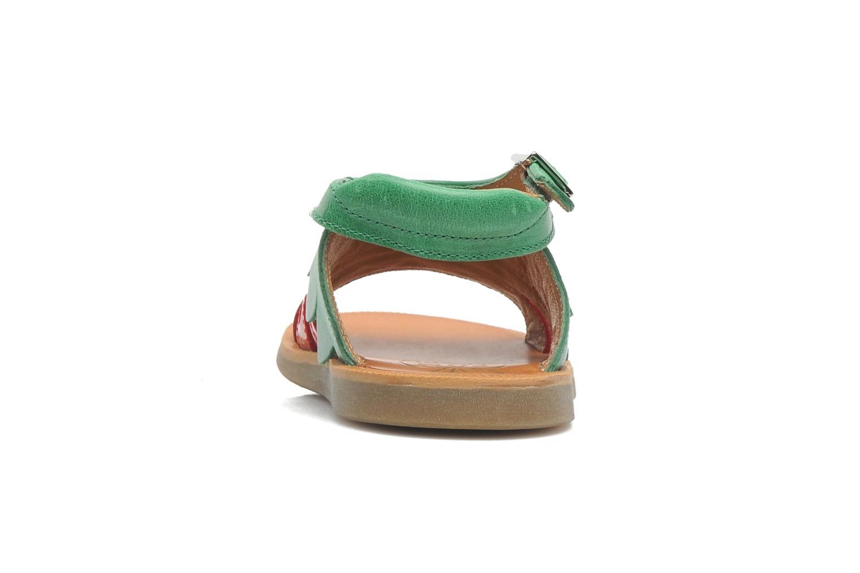 Sandales et nu-pieds Pom d Api POPPY STRAWBERRY Rouge vue droite