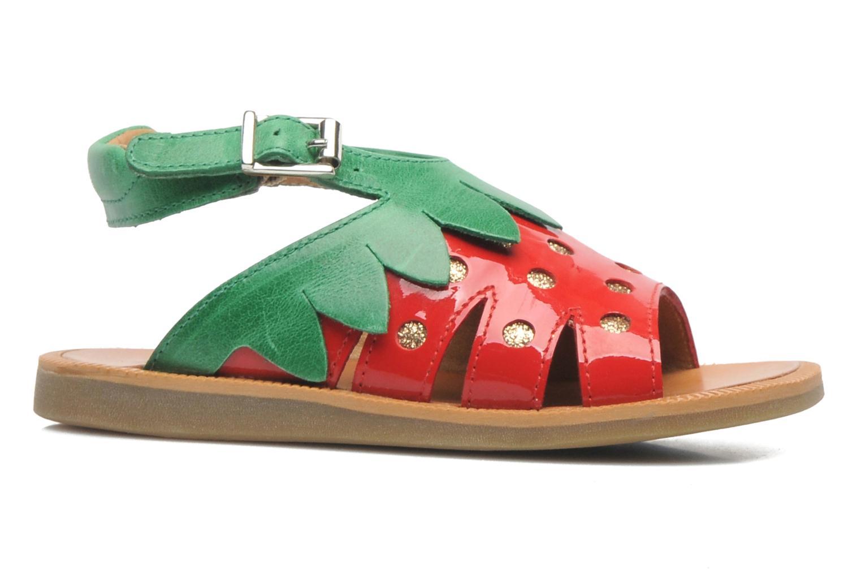 Sandales et nu-pieds Pom d Api POPPY STRAWBERRY Rouge vue derrière