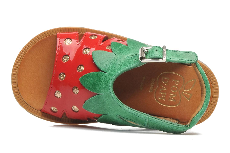Sandales et nu-pieds Pom d Api POPPY STRAWBERRY Rouge vue gauche