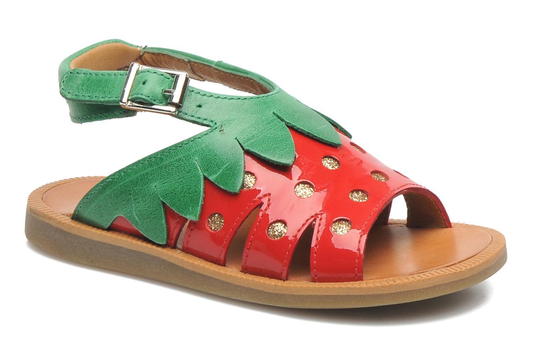 Sandales et nu-pieds Pom d Api POPPY STRAWBERRY Rouge vue détail/paire