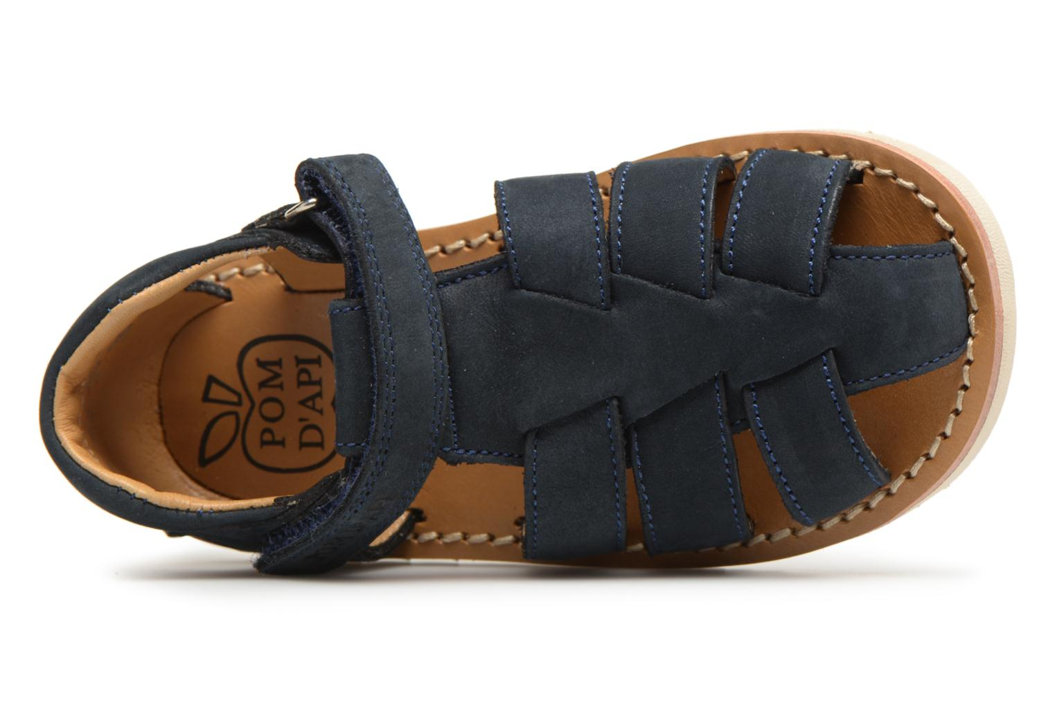 Sandals Pom d Api Waff Papy Blue view from the left