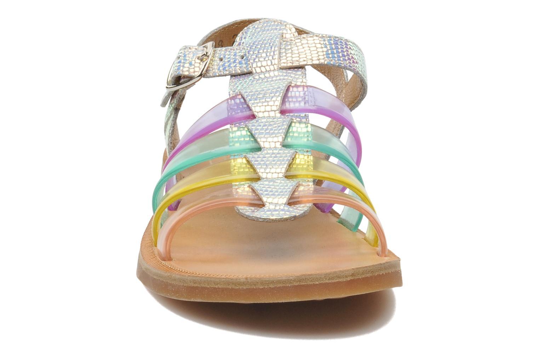 Sandalen Pom d Api PLAGETTE STRAP JELLY mehrfarbig schuhe getragen
