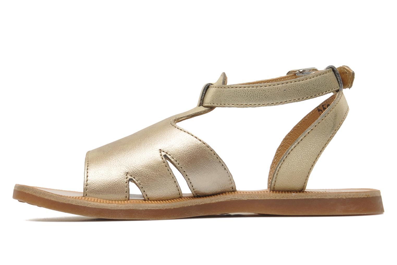 Sandales et nu-pieds Pom d Api PLAGETTE MUSE Or et bronze vue face