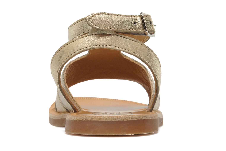 Sandales et nu-pieds Pom d Api PLAGETTE MUSE Or et bronze vue droite