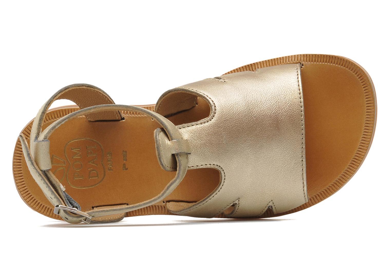 Sandales et nu-pieds Pom d Api PLAGETTE MUSE Or et bronze vue gauche