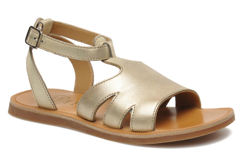 Sandales et nu-pieds Pom d Api PLAGETTE MUSE Or et bronze vue détail/paire
