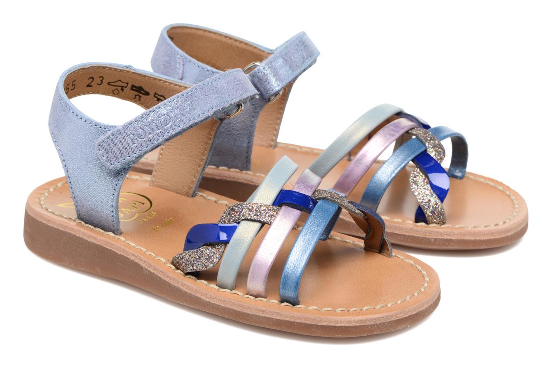 Sandals Pom d Api YAPO TRESSE Multicolor 3/4 view